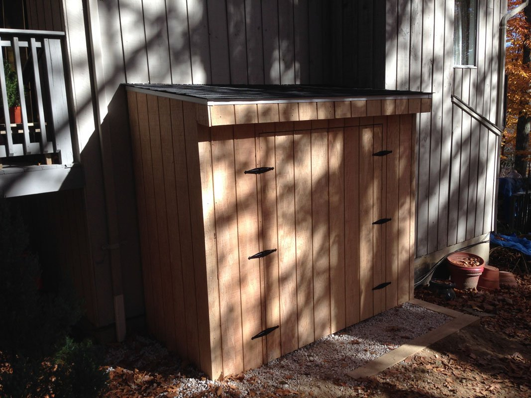 Lean-to Generator Storage by Finishing Touch Contracting