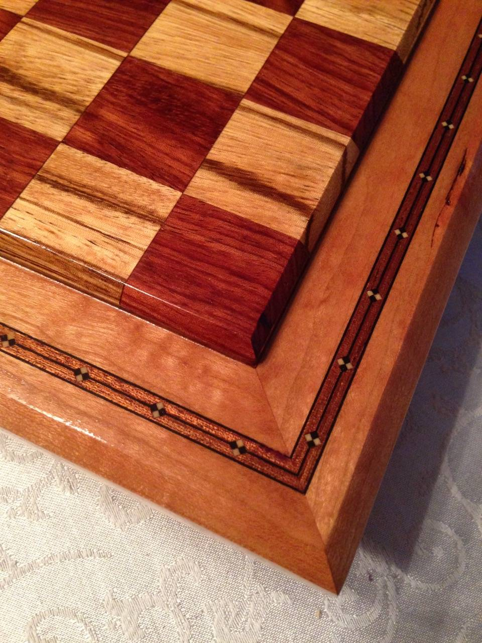 Chessboard created by Frank D'Aleo for a Charity Auction
