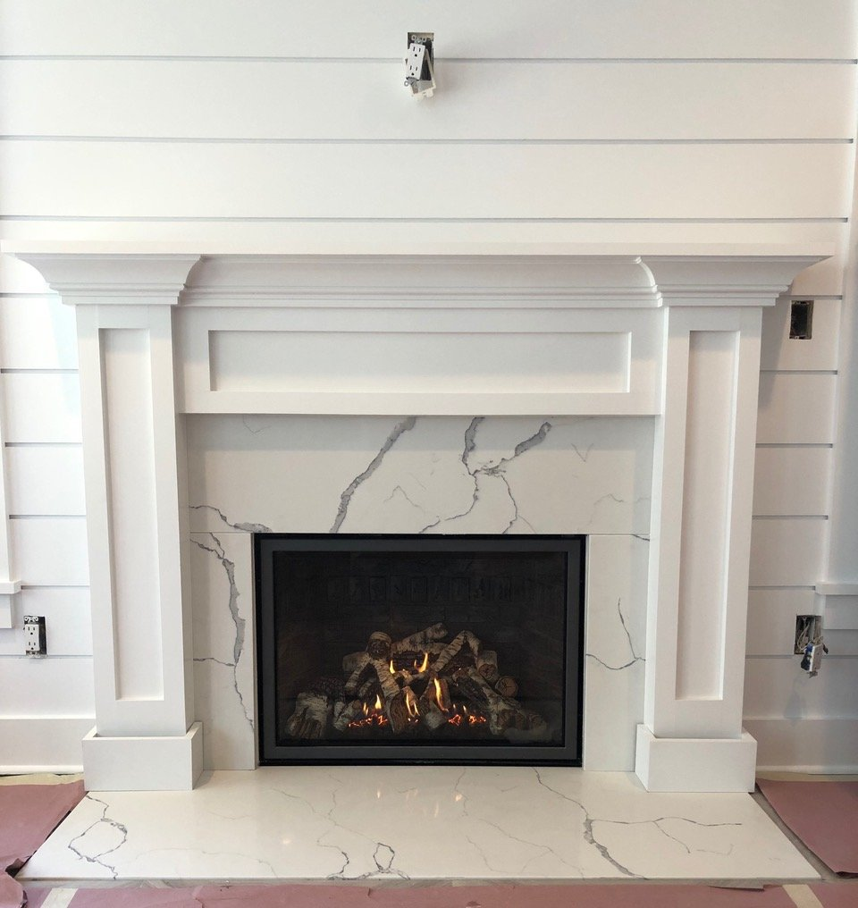 Custom Mantle Construction by Finishing Touch Contracting