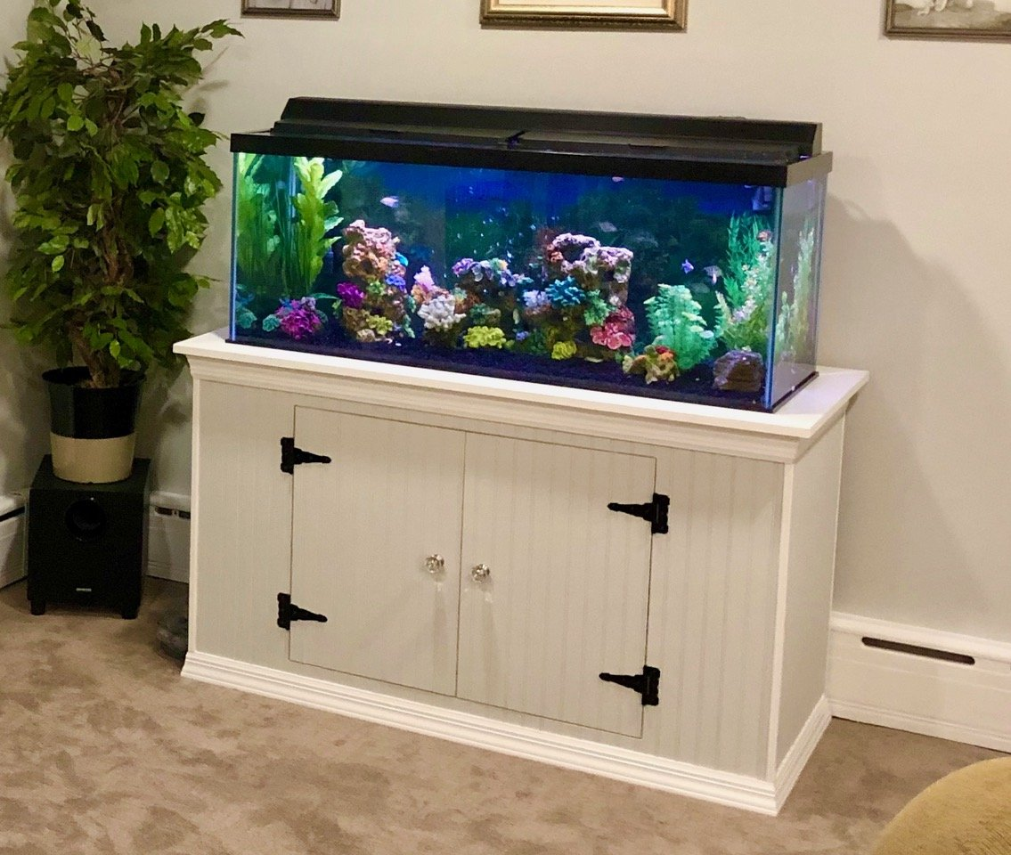 Custom Aquarium Stand built by Finishing Touch Contracting