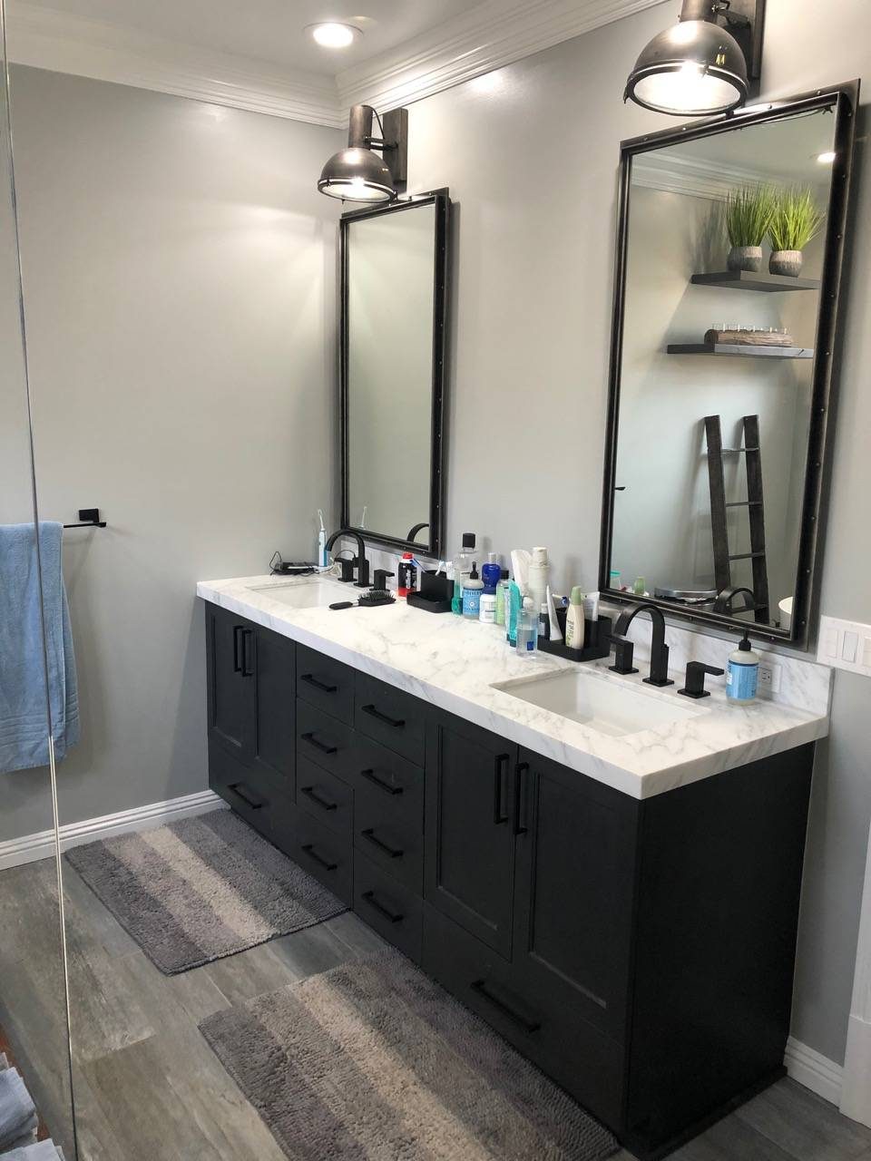 His and Hers Vanities by Finishing Touch