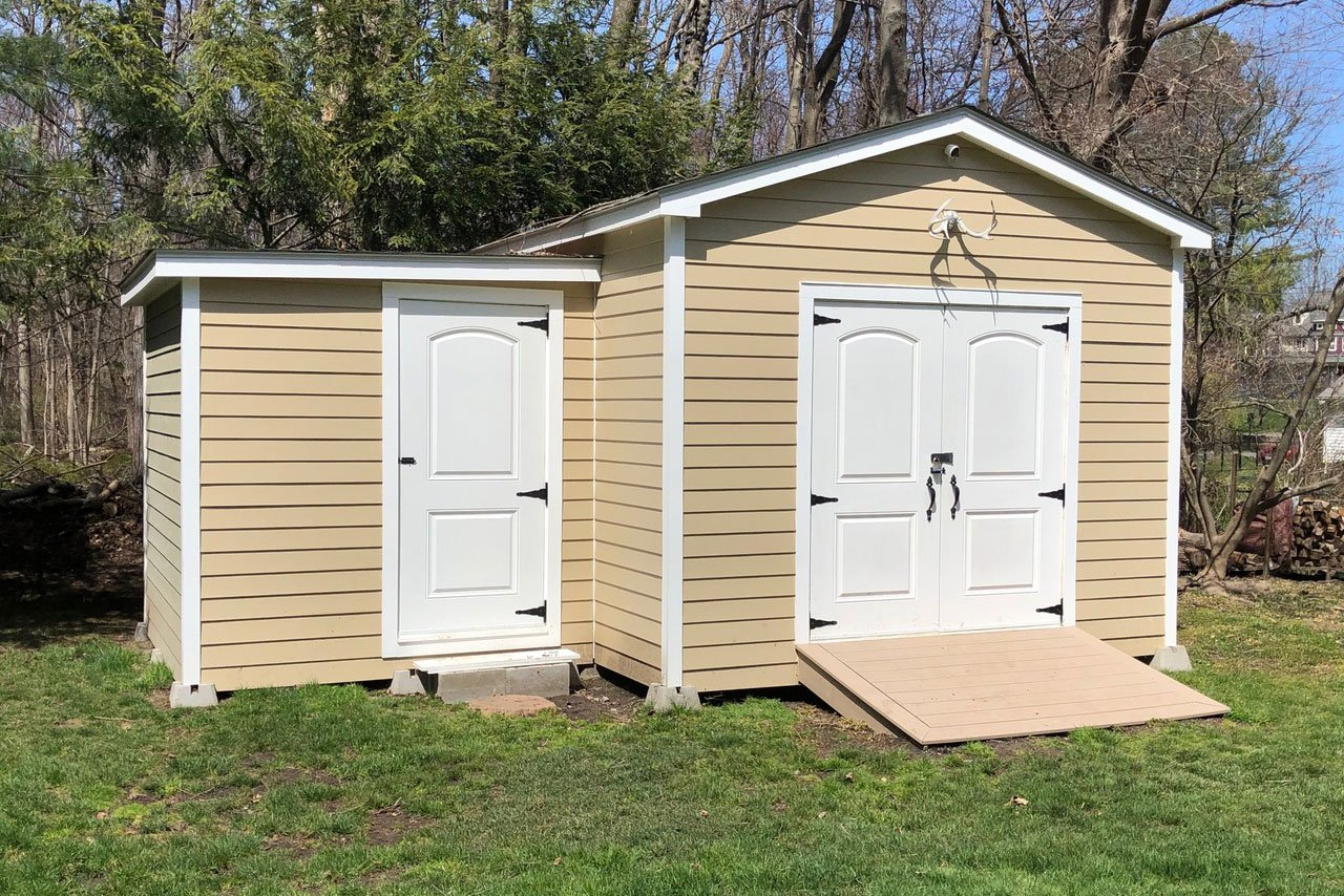 Custom Shed construction by Finishing Touch Contracting Inc.