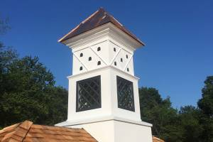 Custom Building and Construction - Cupola with Cedar and Copper Roof