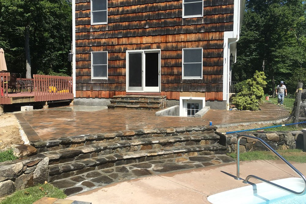 Ossining, New York Stone Patio Contruction