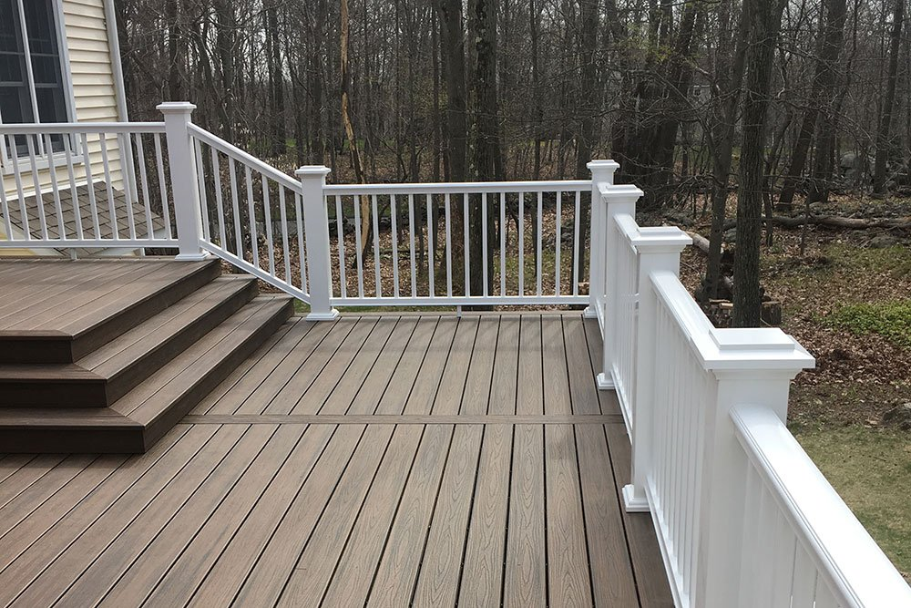 Trex decking build by Finishing Touch Contracting