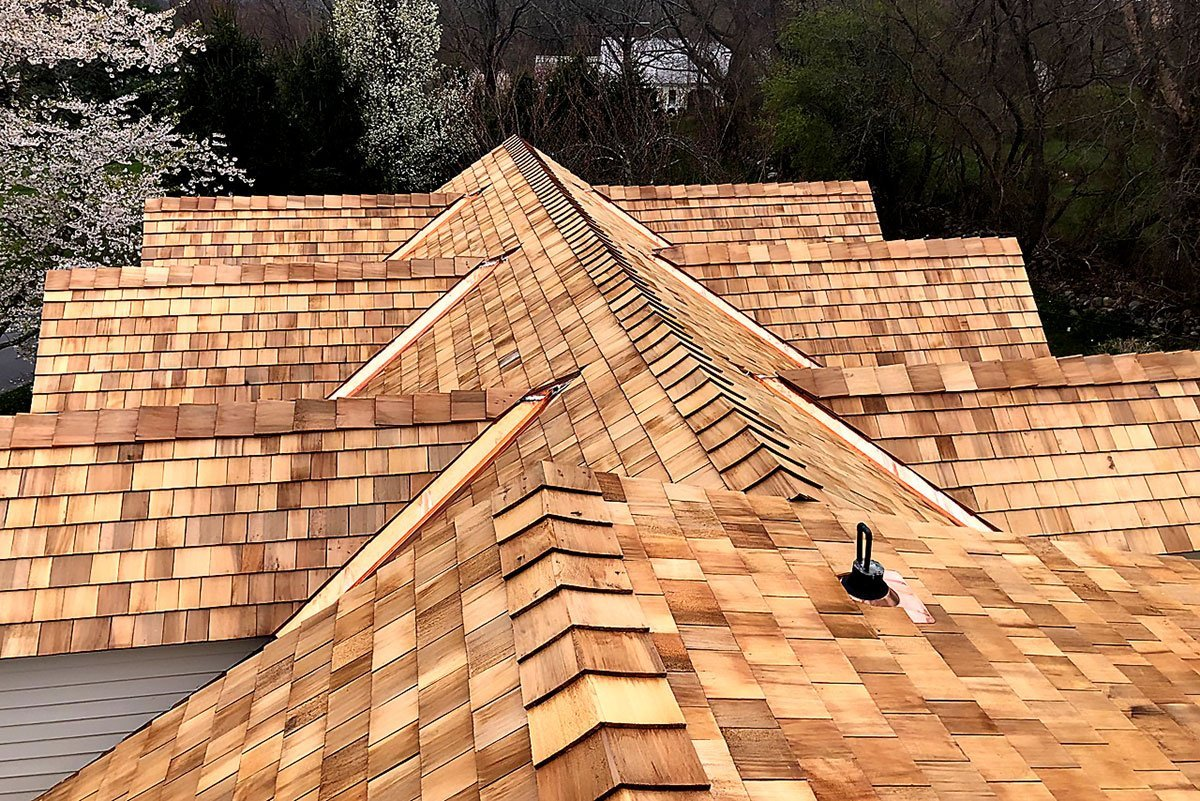 New Cedar Shake Roof Construction by Finishing Touch